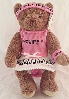 16 inch jointed fan bear Cliff Richard personalise with mum,nan,gran,aunt,sis,