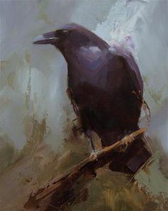 "Daily Paintworks - ""Raven 4"" - Original Fine Art for Sale - © Thorgrimur Andri Einarsson"