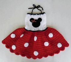 Crochet Baby Dress Items similar to Minnie Mouse RED Polka Dots Crocheted Dress… Crochet Baby Dress Pattern, Baby Girl Crochet, Crochet Baby Clothes, Crochet For Kids, Knit Crochet, Crochet Patterns, Crochet Hats, Crochet Dresses, Robes Disney