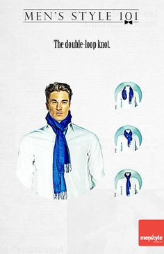 Men's style - The double-loop knot for scarves