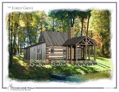 Browsing for a small cabin layout? Take a look at the Forest Grove cottage plan from Winterwoods Homes, your source for cottage architectural plans.