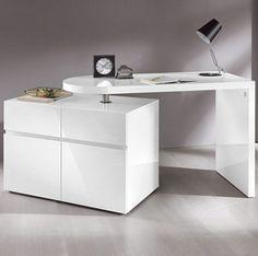 Schreibtisch, HMW, »Prag«, mit drehbarem Container