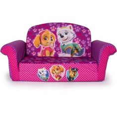 Get cozy with the Paw Patrol themed 2in1 Flip Open Sofa from