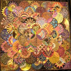 """Clamshell"" by Karen K. Stone http://ideagal.blogspot.com/2009/11/international-quilt-festival-2009.html"