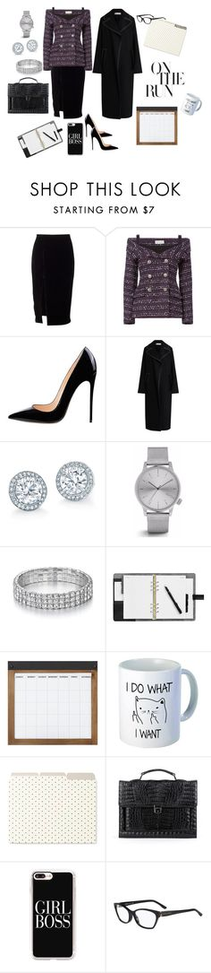 """""""On the Run in January ❄"""" by jbeb ❤ liked on Polyvore featuring Faith Connexion, Marni, Komono, Home Decorators Collection, Kate Spade, Anne Sisteron, Casetify and BOSS Hugo Boss"""
