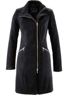 Cappotto corto con cerniera bidirezionale spostata su un lato 7a75d48219e