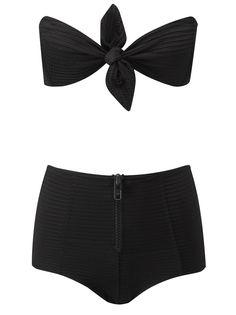 814431b81c388 Poppy Textured High Waisted Bikini by LISA MARIE FERNANDEZ Now Available on  Moda Operandi Retro Bathing