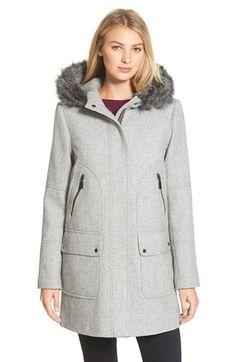 Hot Fashion Women Warm Hooded Wool Blend Coats Casual Slim Jacket