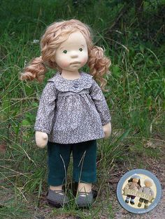Lalinda - Marlena - natural fiber art doll / 20 inch