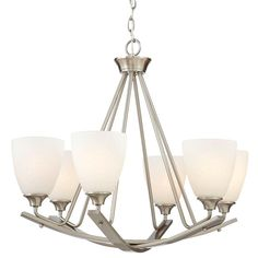 Home Decorators Collection 6-Light Brushed Nickel Chandelier-7902HDC - The Home Depot