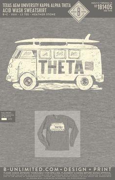 Kappa Alpha Theta Sweatshirt | Sorority Sweatshirt | Greek Sweatshirt #kappaalphatheta #theta #kao #kat #Sweatshirt #van #surfboard