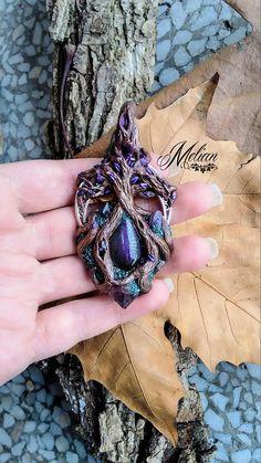 Crystal tree tree pendant magic tree mystic woods purple