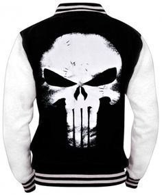 Veste Teddy Mec THE PUNISHER - Logo www.rockagogo.com