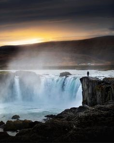 Stunningly Moody image from Gooafoss by Selected by Water Photography, Landscape Photography, World Best Photos, Photo Contest, Nature, Beautiful Pictures, Gallery, Sunrises, Waterfalls