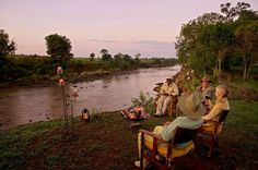 Sundowners on the Mara River