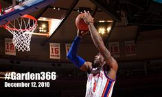 Today's #Garden366 Moment - 12/12/2010: Amare records NY Knicks record 8th straight 30+ point game
