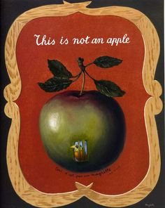 """In Max Ernst's dining room in Paris there was a painting by Magritte, entitled Force of Habit (I 960, cat. no. 15 1), in which a heraldic image of a large green apple is inscribed in English, """"This is not an apple."""" Max and Magritte had exchanged pictures, as artists often do. And Max, in the middle of the apple, had painted a cage with a bird inside. Below this cage, Max had written, """"Ceci n'est pas un Magritte - signed Max Ernst."""" It was pretty funny, at least I thought so. It transfo..."""