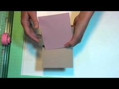 Gatefold easel card video tutorial by Lindsay....the frugal crafter. Card Making Templates, Card Making Tutorials, Card Making Techniques, Making Ideas, Fancy Fold Cards, Folded Cards, The Frugal Crafter, Scrapbook Cards, Scrapbooking