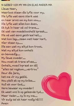 'n Gebed vir my Ma en elke ander Ma! Strong Quotes, Mom Quotes, Wall Quotes, Qoutes, Mothersday Quotes, Afrikaanse Quotes, Marriage Relationship, Relationships, Parenting Quotes