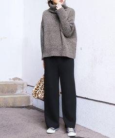 Minimal Outfit, Minimal Fashion, Girls Fashion Clothes, Modest Fashion, Look Fashion, Urban Fashion, Autumn Fashion Women Fall Outfits, Womens Fashion, Knitwear Fashion