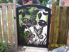 butterfly design gates | As an artistic medium, metal has been around for thousands of years ...