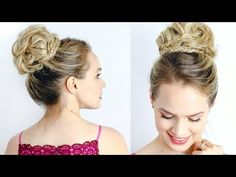"""Modernized High Updo:easier than it looks. I like that it avoids the single """"swoop"""" in front, and isn't pulled straight back, either. (Kayley Melissa on YouTube) #hair"""