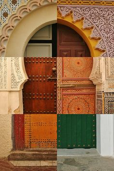morocco doors | Moroccan door sextet | Flickr - Photo Sharing!