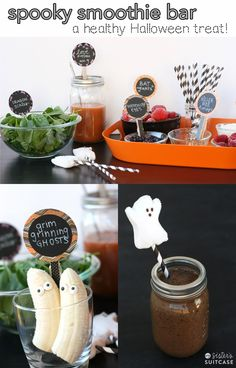 Spooky Smoothie Bar {A Healthy Halloween Snack!}
