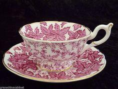 coalport tea cups | COALPORT Tea Cup & Saucer (Duo) PINK MAPLE ... | My Dish Addiction ...