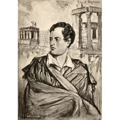 Posterazzi George Gordon Lord Byron English Romantic Poet From An Illustration By AS Hartrick Canvas Art - Ken Welsh Design Pics x English Romantic, Lord Byron, Welsh, Poet, Canvas Art, Illustration, Design, Welsh Language, Wales