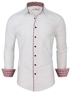 Toms Ware Mens Fashion Casual Inner Plaid Long Sleeve Button Down Shirt Formal Shirts, Casual Shirts For Men, Men Casual, African Clothing For Men, Mens Clothing Styles, Long Sleeve Shirt Dress, Long Sleeve Shirts, Best Dress Shirts, Bespoke Shirts