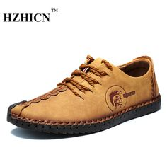 Check lastest price Retro Handmade Leather Shoes Men 2017 New Arrival Casual Genuine Leather Oxfords Chaussure Homme Soft Comfort Sapato Masculino just only $21.99 with free shipping worldwide  #menshoes Plese click on picture to see our special price for you