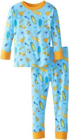 Boys Organic Cotton Pajama Set - Bugs Life Print - Sizes 2T to 7