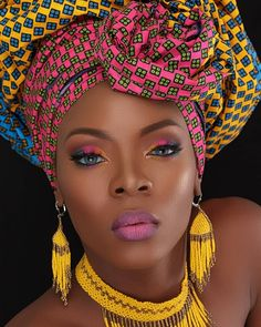 Latest Headscarves for African Women - - Best birthday anniversary ideas from birthday photos, birthday outfits, party ideas with friends, stylish ways how to tie your Ankara head scarf. Black Women Art, Beautiful Black Women, Black Girls, African Beauty, African Women, African Fashion, African Style, Head Scarf Styles, African Head Wraps