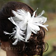 #wedding #hairstyle #feather hari veils and clips for little girls hair - booth idea