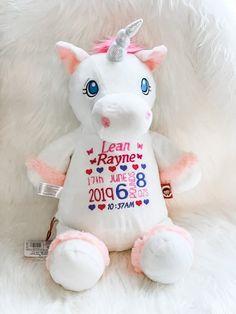 Personalised Unicorn Teddy | White Unicorn | unicorn gift | Worry Unicorn | Baby girl teddy | Communion Unicorn | Baptism Unicorn by SPGiftsShop on Etsy