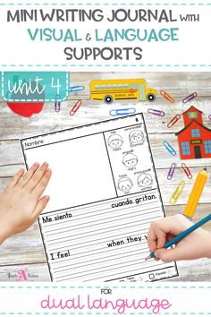 Use this mini writing journal to support your Kindergarten and 1st grade dual language learners as they learn to use their bilingual skills to translanguage between English and Spanish. Each pages has visual supports, high frequency words, and language sentences to help young students make connections across both languages.