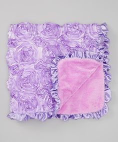 Another great find on #zulily! 24'' x 33'' Purple Rosette Stroller Blanket #zulilyfinds