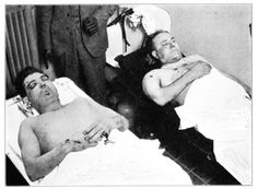 Morgue shots of Chicago gangsters Alberto Anselmi and Giovanni Scalise, 1929