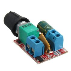 Mini 5V-30V DC PWM Speed Controller Electrical Motor Control Switch LED Dimmer Feature: PWM DC motor speed controller is a very safe product. When the situation is overcurrent, it will disconnect by itself. after cooling off a few seconds, the fuse will recovery automatically. With high voltage...