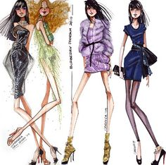 Fashionarium • Step by Step Fashion Illustration Tutorial With Famed Fashion Illustrator Alfredo Cabrera - How To Draw Beautiful Fashion Sketches