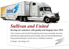 Since 1912 Sullivan United Moving and Storage has been helping families move successfully across the country. Our team makes moves easy, affordable, and safe. With years of experience and a large staff to accommodate your every need, we are here for you. San Diego Movers, Hobby Shops Near Me, Moving And Storage, Free Quotes, Online Business, Everything, Las Vegas, The Unit, Marketing