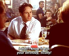 You're so funny. Mulder loves messing with Scully!