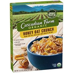 Cascadian Farm Cereal Organic Honey Crunch Oat, 13.5 Ounce - http://sleepychef.com/cascadian-farm-cereal-organic-honey-crunch-oat-13-5-ounce/