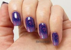 Purple Winter Nails mit Do You Have This Color In Stock-holm? (OPI, Nordic Collection)