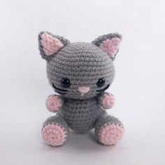 Create your own adorable little cat in just a few hours! This easy-to-follow pattern includes one PDF file with detailed instructions on how to crochet and assemble all the parts to make this little cat.