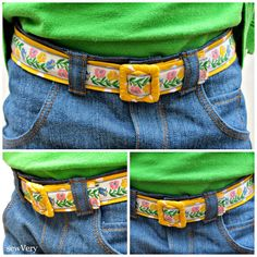 sewVery: Reversible Vintage Trim Fabric Belt Tutorial