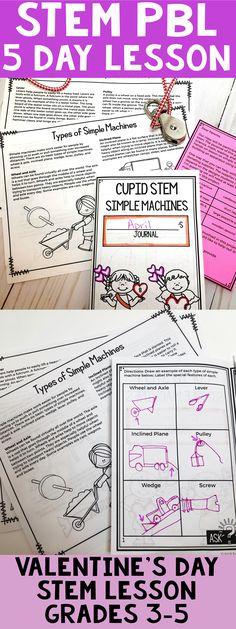 This Valentine's Day STEM project-based learning lesson is awesome! Teach your students about simple machines while letting them conduct in-depth inquiry, then build a simple machine that helps Cupid deliver a valentine's gift. 6th Grade Science, Stem Science, 4th Grade Math, Teaching Science, Teaching Ideas, Science Ideas, Stem Activities, Classroom Activities, Classroom Ideas