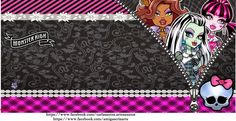 Fazendo a Propria Festa: KIT DE PERSONALIZADOS DIGITAL TEMA MONSTER HIGH