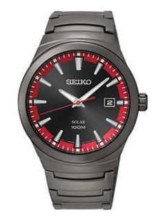 Seiko Seiko Solar SNE251 Black Dial Men's Date Watch